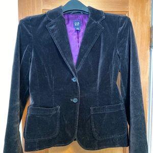 Gap Black Velvet Blazer. Size 6